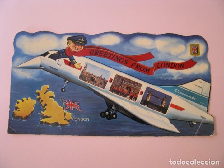 POSTAL DE CONCORDE. GREETINGS FROM LONDON. ED. ESCUDO DE ORO, FISA. 21,5X11 CM. (Postales - Postales Temáticas - Aeroplanos, Zeppelines y Globos)
