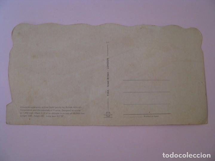 Postales: POSTAL DE CONCORDE. GREETINGS FROM LONDON. ED. ESCUDO DE ORO, FISA. 21,5X11 CM. - Foto 2 - 254000565
