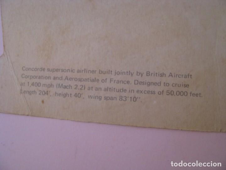 Postales: POSTAL DE CONCORDE. GREETINGS FROM LONDON. ED. ESCUDO DE ORO, FISA. 21,5X11 CM. - Foto 3 - 254000565