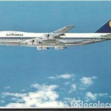 Postales: POSTAL A COLOR LUFTHANSA BOEING JET 747. Lote 255380650