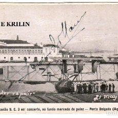 Postales: PONTA DELGADA / AÇORES / HYDRO-AVIAO EN CONCERTO , AO FUNDO MERCADO DO PEIXE / 1920. Lote 257659695