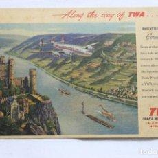 Postais: POSTAL TWA TRANS WORLD AIRLINES USA, EUROPA, AFRICA, ASIA. Lote 258867855