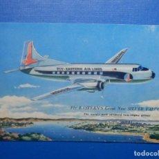 Postales: TARJETA POSTAL - AVIONES - FLY EASTERN EASTERN´S AIR LINES - NEW SILVER FALCON - SIN CIRCULAR. Lote 260367640