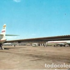 Postales: POSTAL A COLOR AEROPUERTO DE BARCELONA Nº 4461 PLATAFORMA APARCAMIENTO AVIONES DC 9 Y CARAVELLE. Lote 262442365