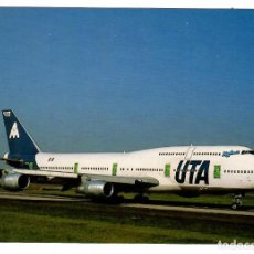 Postales: POSTAL UTA / AÉROMARITIME (FRANCIA), BOEING 747-300 (F-GETB) EN PARIS ROISSY CDG. NUEVA.. Lote 262824220