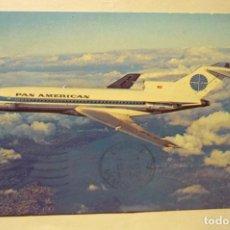 Postales: POSTALAVION PAN AMERICAN 727 JET CLIPPER -ESCRITA. Lote 262864435