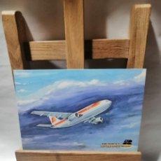 Postales: POSTAL IBERIA AIRBUS A 300 B. 30 MARZO DE 1981 PRIMER VUELO EN AEROBUS BARCELONA Y MADRID SIN C. Lote 262903850