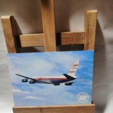 Postales: POSTAL IBERIA JET DOUGLAS DC-8 TURBOFAN SIN CIRCULAR. Lote 262905720