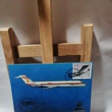 Postales: POSTAL IBERIA JET DOUGLAS DC-9 EXP. AEROFILATELICA SAE 78.60 ANIV. LINIA LATECOERE. Lote 262908350