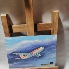 Postales: POSTAL IBERIA AIRBUS A 300 B. 30 MARZO DE 1981 PRIMER VUELO EN AEROBUS BARCELONA Y MADRID SIN C. Lote 262983625