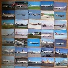 Postales: 50 TARJETAS POSTALES DE AVIONES VARIADAS SIN USAR. Lote 263111880
