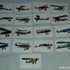 Postales: LOTE DE 17 POSTALES DE AVIONETAS ANTIGUAS. Lote 264257644
