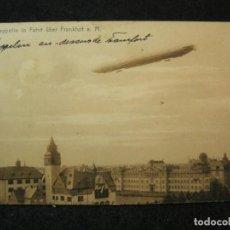 Postales: ZEPPELIN IN FAHRT ÜBER FRANKFURT A. M.-POSTAL ANTIGUA-(81.615). Lote 268764019