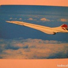 Postales: POSTAL DE BRITISH AIRWAYS. AVION CONCORDE. ED. ARTHUR DIXON. CIRCULADA 1981.. Lote 269084608