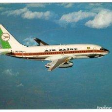 Postales: AIR ZAÏRE (REP. DEM. CONGO). BOEING 737-298C (9Q-CNI) VOLANDO SOBRE EL LAGO TUMBA.. Lote 269985323