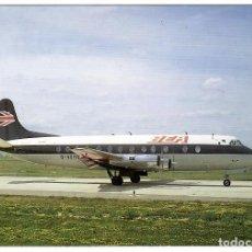Postales: BEA (BRITISH EUROPEAN AIRWAYS). AVIÓN VISCOUNT (G-AOHO) EN PARÍS-ORLY (VER DESCRIPCIÓN).. Lote 269985388