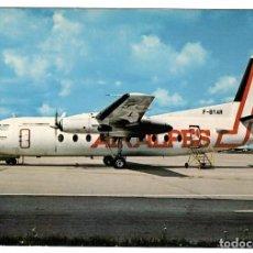 Postales: AIR ALPES. AVIÓN FOKKER F-27. ED. P.I., PARIS. ESCRITA. (VER DESCRIPCIÓN).. Lote 269985438