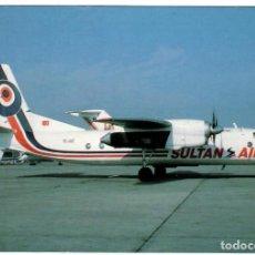 Postales: SULTAN AIR (TURQUÍA). AVIÓN ANTONOV AN-24 (TC-JUZ) AEROPUERTO DE ISTANBUL EN1993. (VER DESCRIPCIÓN). Lote 269985633