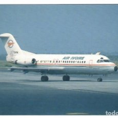 Postales: AIR IVOIRE (COSTA DE MARFIL), FOKKER F-28 FELLOWSHIP TU-TIK (1987). (VER DESCRIPCIÓN). Lote 269985693
