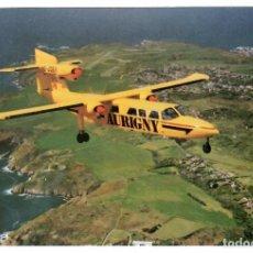 Postales: AURIGNY AIR SERVICES, AVIÓN TRISLANDER. POSTAL CIRCULADA A BARCELONA EN 1994. VER DESCRIPCIÓN.. Lote 269985798
