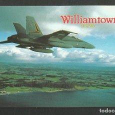 Postales: POSTAL PUBLICITARIA AVION WILLIAMTOWN N.S.W AUSTRALIA F.A 18 TACTICAL FIGHTER COLLECTORES MV. Lote 270389408
