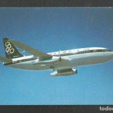 Postales: POSTAL SIN CIRCULAR PUBLICITARIA OLYMPIC AIRWAYS BOEING 737-200 EDITA ATHANASSIADIS BROS ATHENS. Lote 270391468