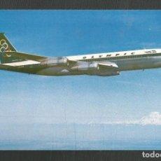 Postales: POSTAL SIN CIRCULAR PUBLICITARIA OLYMPIC AIRWAYS BOEING 707-320 EDITA ATHANASSIADIS BROS ATHENS. Lote 270391923
