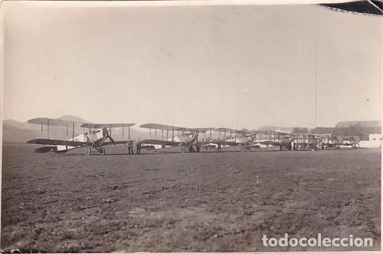 ANTIGUA FOTOGRAFIA AEREA - AERÓDROMO DE GETAFE AÑOS 20 - 14 X 9 CM. MADRID BASE AÉREA (Postales - Postales Temáticas - Aeroplanos, Zeppelines y Globos)
