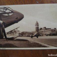 Postales: ANTIGUA POSTAL CAMPO AVIACION , AEROPUERTO DE LIVERPOOL . ED PHOTOCHROM. Lote 277075663