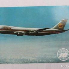 Cartes Postales: POSTAL AVION BOEING-747 JET IBERIA LINEAS AEREAS DE ESPAÑA 1970. Lote 278678043