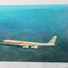 Postales: POSTAL AVION DOUGLAS DC-8 TURBOFAN IBERIA LINEAS AEREAS DE ESPAÑA 1968. Lote 278682773