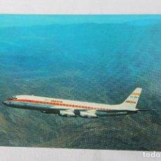 Postales: POSTAL AVION DOUGLAS DC-8 TURBOFAN IBERIA LINEAS AEREAS DE ESPAÑA 1968 Nº 1. Lote 278682913