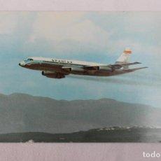 Postales: POSTAL AVION CONVAIR CV 990 CORONADO SPANTAX 1972. Lote 278683318