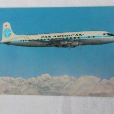 Postales: POSTAL AVION CLIPPER DC-7B PAN AMERICAN AIRLINE. Lote 278687718