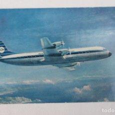 Postales: POSTAL AVION JET ELECTRA II KLM ROYEAL DUTCH AIRLINES 1966. Lote 278688018