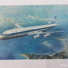 Postales: POSTAL AVION DC 8 INTERCONTINENTAL JET KLM ROYAL DUTCH AIRLINES 1966. Lote 278688203