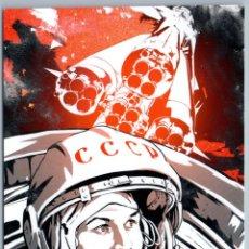 Postales: VALENTINA TERESHKOVA SOVIET SPACE COSMOS ROCKET UNUSUAL GRAPHIC NEW POSTCARD - VALERY GUDKOVA. Lote 278750623