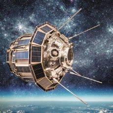 Postales: POSTCARD SPACE SATELLITE COSMOS EARTH PLANET SPUTNIK SKY STAR PHOTO COLLAGE NEW - ANDREY ARMYAGOV. Lote 278752313