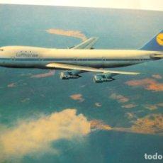 Postales: POSTAL AVION BOEING JET 747.-LUFTHANSA. Lote 278801313