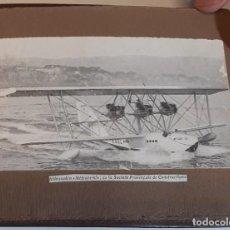 Postales: 1920/30´S ALBÚM CUERO REPUJADO POTENTES IMÁGENES DE AVIONES - AEROPLANOS DE LA ÉPOCA. Lote 278833393