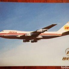 Cartes Postales: POSTAL BOEING 747 JUMBO IBERIA FISA. Lote 280916783