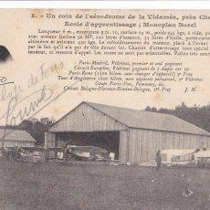 Postales: POSTAL FRANCESA AVIONETA DEL AEROPUERTO AERODROMO DE LA VIDAMÉE CERCA DE CHANTILLY. SIN CIRCULAR. Lote 285533973