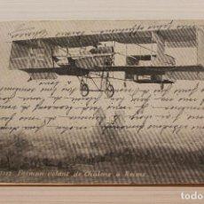 Postales: POSTAL, FARMAN VOLANT DE CHÂLONS À REIMS, L.V.. Lote 288084933