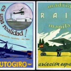 Cartoline: GIROEXLIBRIS. ESPAÑA.- AVIACIÓN. DOS BONITAS POSTALES DE PROPAGANDA DE VUELOS ESPECIALES. Lote 289544688