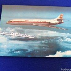 Postales: IBERIA AVION CARAVELLE X-R TARJETA POSTAL. Lote 294378653
