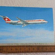 Postales: POSTAL. AVION DC-9-32, COMPAÑIA AEREA SWISSAIR. SWISS AIR. SIN CIRCULAR. Lote 295290268