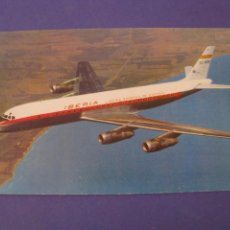 Postales: POSTAL DEL AVION DOUGLAS DC-8 TURBOFAN, IBERIA. ED. RIEUSSET S. A. ESCRITA 1965.. Lote 295452493