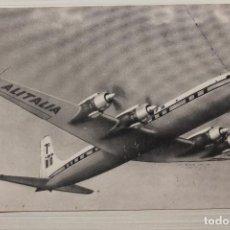 Postales: POSTAL ALITALIA DC-7C SETTE MARI, ALITALIA. Lote 295856303