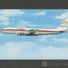 Postales: POSTAL DE AVIACION: DOUGLAS DC-8 TURBOFAN IBERIA (AVION). Lote 296767893