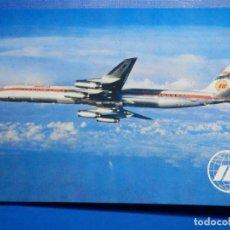 Postales: POSTAL AVIONES IBERIA - LINEAS AEREAS DE ESPAÑA - JET DOUGLAS SUPER DC-8/63 - ED. RUAN - NUEVA 1968. Lote 296916278